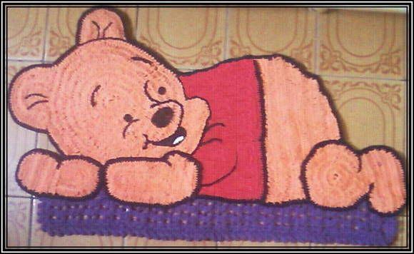 Arte Em Tapete De Barbante : Tapete Barbante Ursinho Pooh 70cm